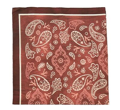 "NEW 2018 ISAIA NAPOLI POCKET SQUARE 100/% COTTON 27x26.5/"" 18IPS120"