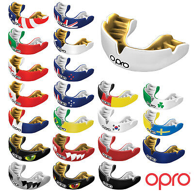 OPRO Power-Fit MMA Hockey Rugby Boxing Polo Mouthguard Gum Shield Protector