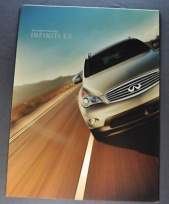 2012 Infiniti EX Specifications Sales Brochure Folder Excellent Original 12