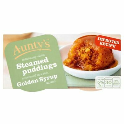 Aunty's Steamed Golden Syrup Puddings (2x100g) - Pack of 6