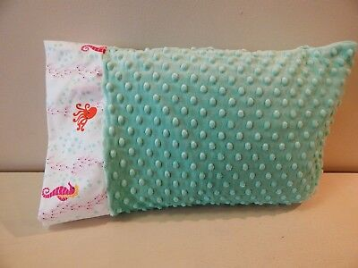 NWT Octopus Sea Horse Aqua Minky Dot Toddler Pillowcase 12x16 Nap Ocean Beach