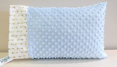 NWT Gold Metallic Arrow Blue Minky Toddler Bed Pillowcase 12x16 Neutral Nap Mat
