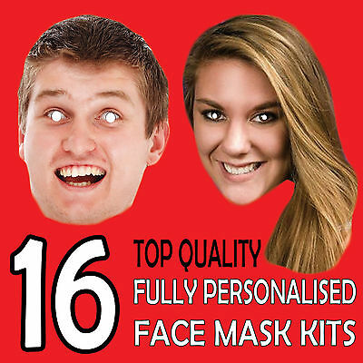 16 Personalised Custom Face Mask Kits Send A Pic & We Give All You Need To Diy !
