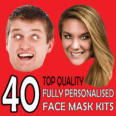 40 Personalised Custom Face Mask Kits Send A Pic & We Give All You Need To Diy !
