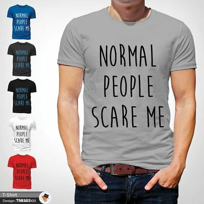 NORMAL PEOPLE SCARE ME T Shirt Funny Horror Story Top Film TV Unisex NEW Gray