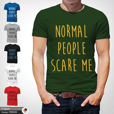 NORMAL PEOPLE SCARE ME T Shirt Funny Horror Story Top Film TV Unisex NEW Green