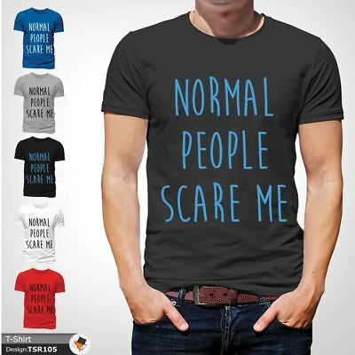 NORMAL PEOPLE SCARE ME T Shirt Funny Horror Story Top Film TV NEW Dark Gray