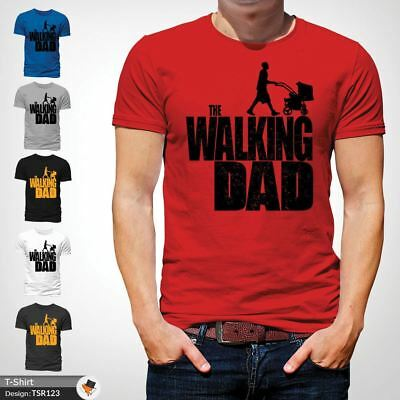 The Walking Dad Parody Father Son Fathers Day Mens T-Shirt Christmas Xmas Red !