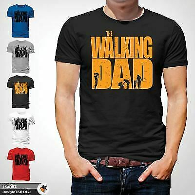 The Walking Dad Funny Mens T Shirt Fathers Day Dead Zombie Gift Birthday Black !