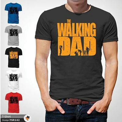 The Walking Dad Funny Mens T Shirt Fathers Day Dead Gift Birthday Dark Gray !