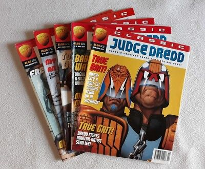 5 Issue Run of Classic Judge Dredd No.s 9 - 13