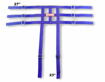 Racerdirect Jr Dragster Leg Containment Net , Wrap To Chassis Style , Purple