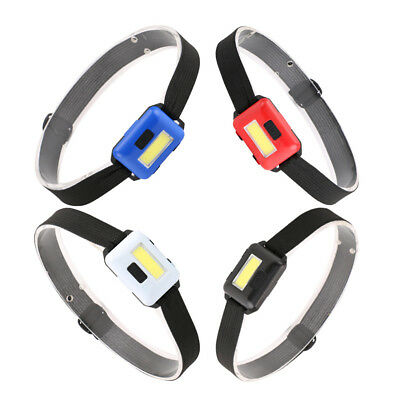 COB LED Headlamp Mini Headlight Flashlight Camping Head Torch Lantern AAA