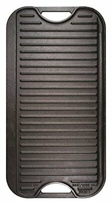 Lodge LPGI3 Cast Iron Reversible Grill/Griddle, 20-inch x 10.44-inch,