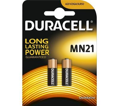 DURACELL SECURITY MN21 12v ALKALINE BATTERY (PACK OF 2) *AUTHENTIC*