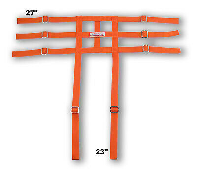 Racerdirect Junior Dragster Leg Containment Net , Wrap To Chassis Style , Orange