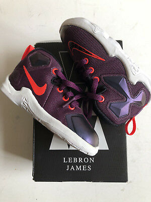 brand new ff7d7 99fa2 Nike Lebron XIII 13 Mulberry Black-Pure Platinum-Purple 808711-500 Toddler