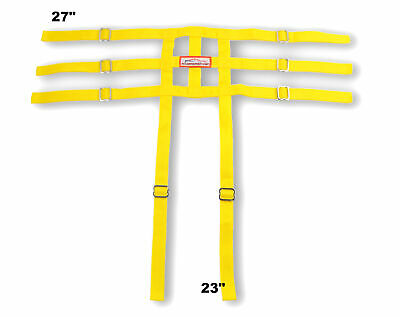 Racerdirect Junior Dragster Leg Containment Net , Wrap To Chassis Style , Yellow