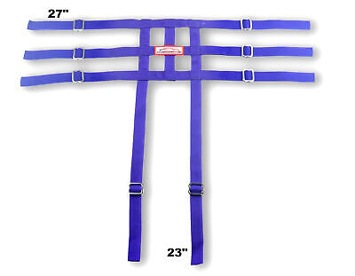 Racerdirect Junior Dragster Leg Containment Net , Wrap To Chassis Style , Purple