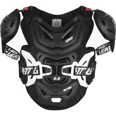 Leatt NEW Mx 5.5 Pro HD Black Chest Protector Roost Guard Motocross Body Armour