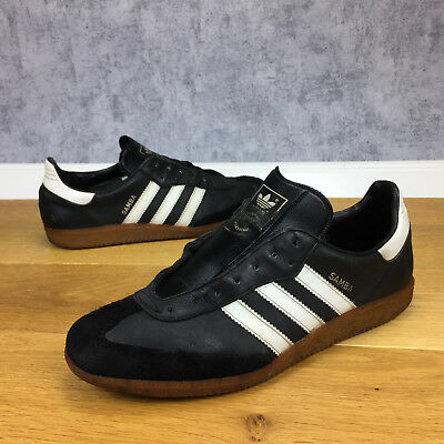 Vintage Adidas Samba Schuhe Uk 9,5 / 44 (T186-119-1944)  Made In Yugoslavia
