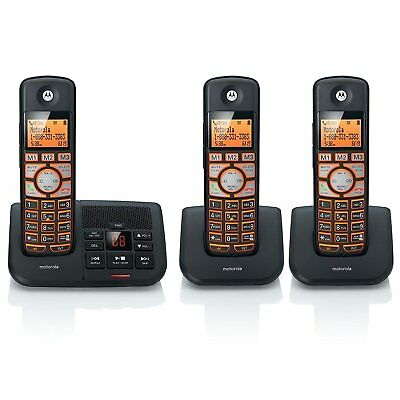 Motorola DECT 6.0 Cordless Big Backlit Button Phone with 3 Handsets, Caller...