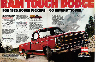 1980 Dodge Ram D 150 Pickup Truck-318 CID V-8 Engine-Original 2 Page Magazine Ad