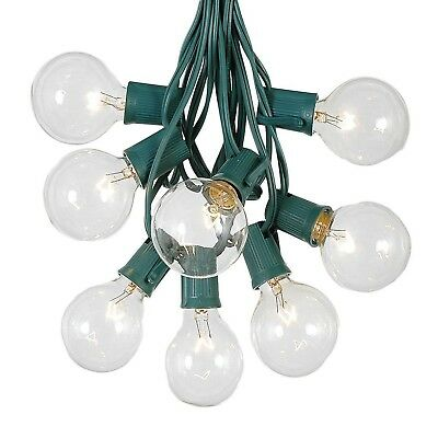 G50 Patio String Lights with 25 Clear Globe Bulbs – Outdoor String Lights –