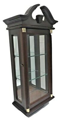Antique glass wall display cabinet with glass shelf