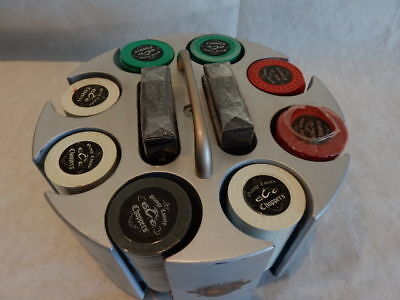 OCC  **Clay Not Plastic**  ..152.Poker, Casino Chip Set ..Rack..Box ..