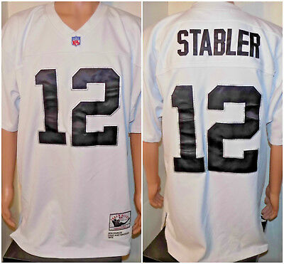 wholesale dealer f6eac 1bc37 KEN STABLER OAKLAND Raiders NFL Throwbacks Stitched Jersey (52) Mitchell &  Ness