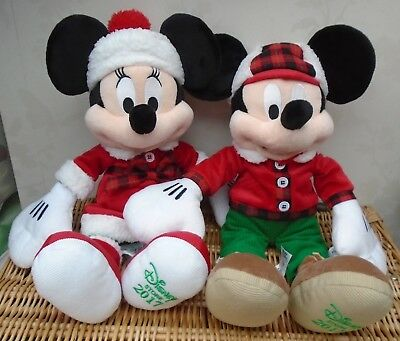 Christmas Limited Edition Minnie & Mickey Mouse 17 inch soft toy 2017 pair