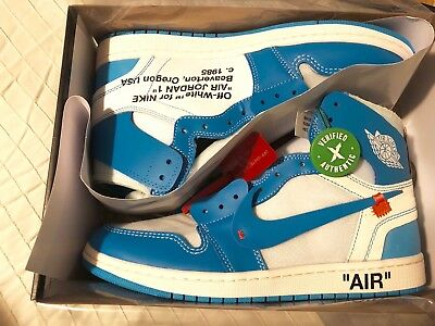 huge selection of 42b39 329d1 OFF WHITE AIR Jordan 1 Retro High UNC Sz 11 AQ0818-148 DS Authentic  Guaranteed -  825.00   PicClick