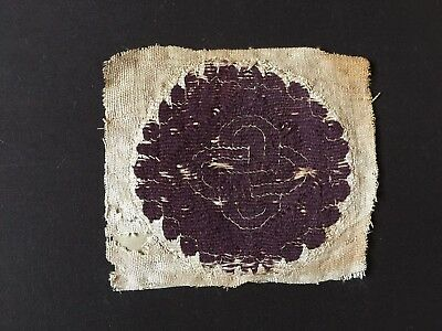 Coptic Textile Roundel with a Knot Motif