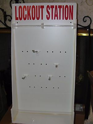 BRADY Unfilled Lock out Tag out wall mount Peg Board Display Station Cabinet