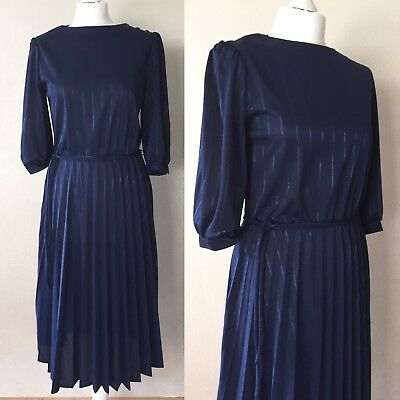 Vintage Dress Late 70's/early 80's Sheer Retro Pinstripe True Vintage Dress