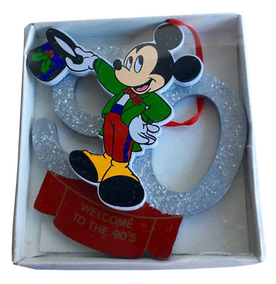 Walt Disney Santa's World Welcome to the 90's Mickey Mouse Vintage Christmas