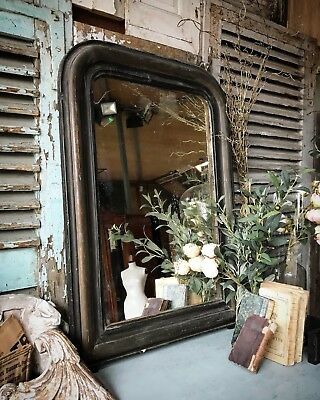 Vintage French overmantle mirror