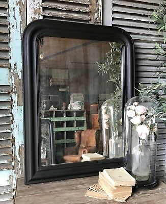 Vintage French Foxed overmantle mirror