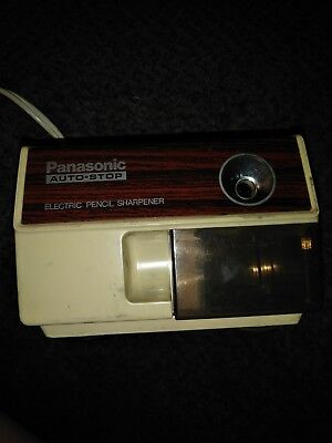 Panasonic KP-110 Electric Pencil Sharpener Auto Stop Vintage 120v Japan B2