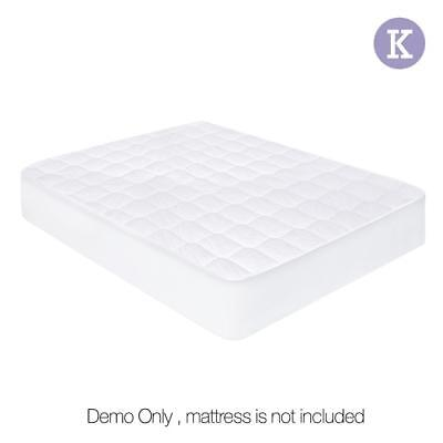 King Cotton Fitted Waterproof Mattress Protector Non Allergic Bed Cover