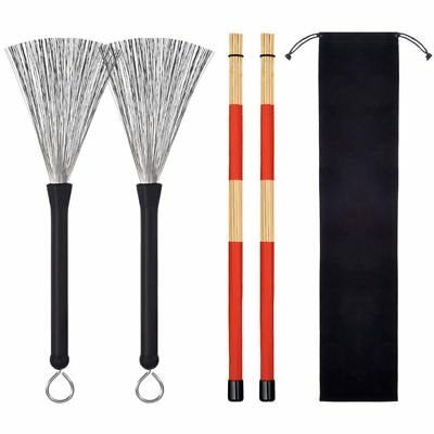 Hot Rod Sticks Drums Brushes Brush Sticks Brushes Sticks Sticks Retractable C7G2