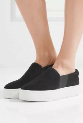 afdc05612d VINCE WARREN SLIP On Black Sneakers Women s Shoes Size 8.5 38.5 ...
