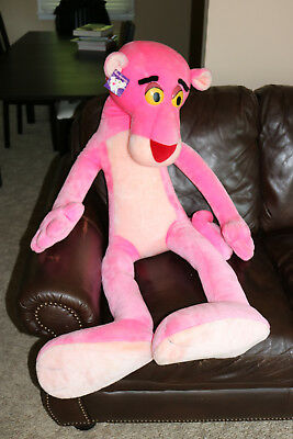 ☆Huge Life Size Pink Panther Plush Stuffed Vintage Tiger Cartoon Toy Mighty Lg
