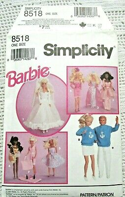 8518 Sewing Pattern~Uncut~Barbie&Ken Doll Clothes:nautical Outfits&Bag&Hat++++