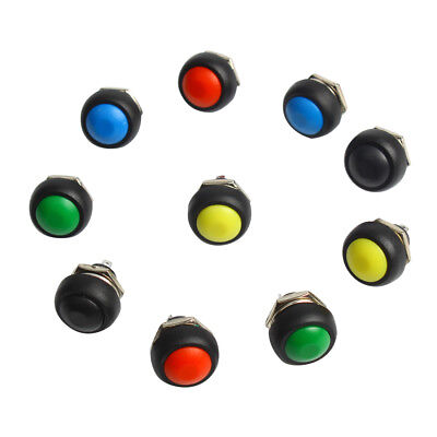 10 Pieces 12mm Waterproof Push Button Switch Momentary Mini Round Switch ON-OFF