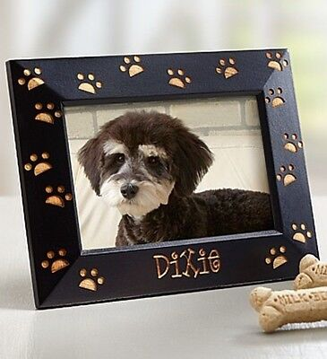 Personalized Paw Print Pet Picture Frame-Customized Dog Cat Animal Gift Present