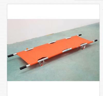 Aluminum alloy foldable stretcher medical/home patient emergency stretcher bed a