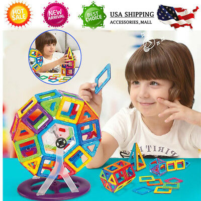 95Pcs Magnetic Construction Educational Building Child Kids Toys Blocks Gift US