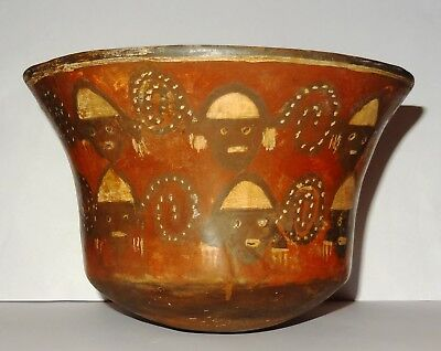 Coupe Nazca  Art Pre-Colombien - Perou 200 Ad - Pre-Columbian Nazca Cup - Peru